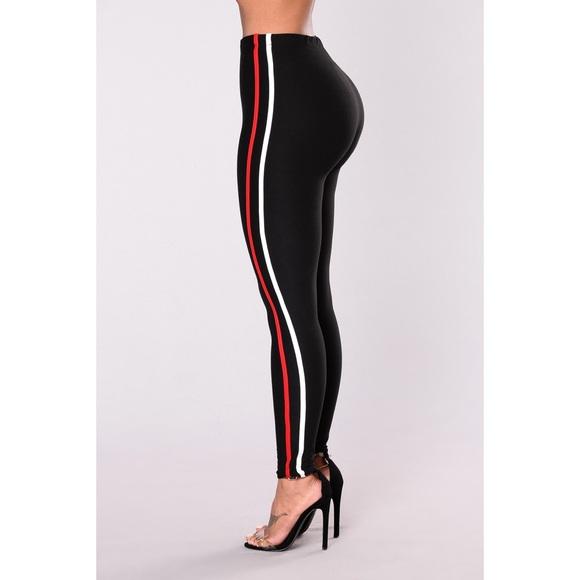 3bea254a90268 Fashion Nova Pants | Nwt Classic Striped Leggings | Poshmark